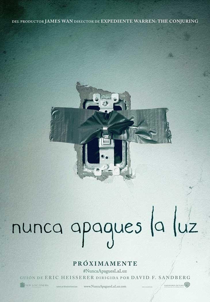 Póster en español de Nunca apagues la luz (Lights out)