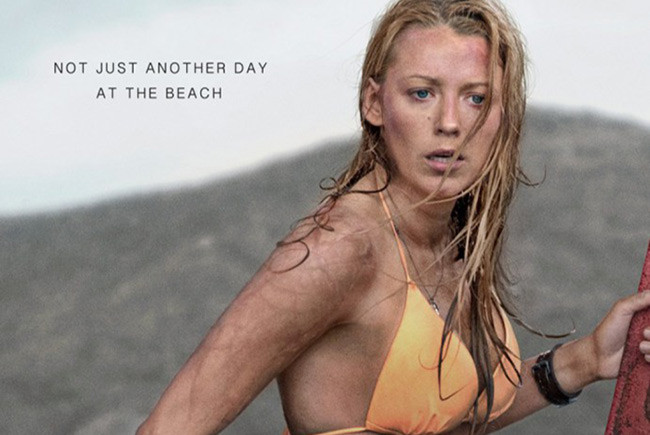 Póster en inglés de Infierno Azul (The Shallows) destacada