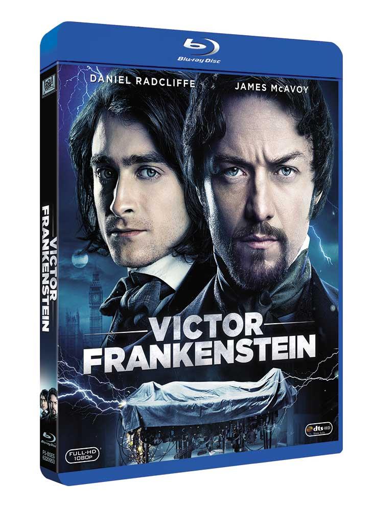 Portada Blu-ray de 'Victor Frankenstein'