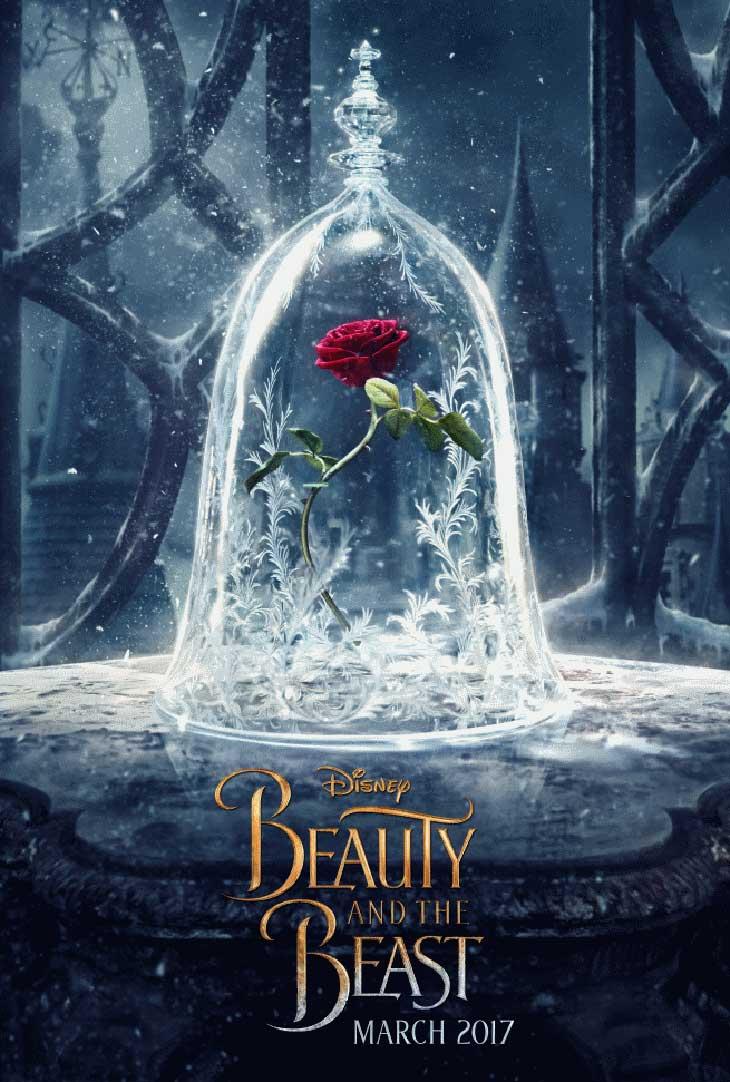 teaser poster de 'La bella y la bestia'