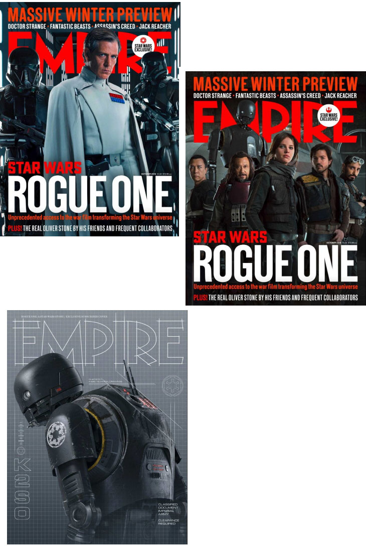 Portadas de Empire de 'Rogue One: una historia de Star Wars'