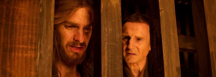 Liam Neeson y Andrew Garfield en 'Silence'