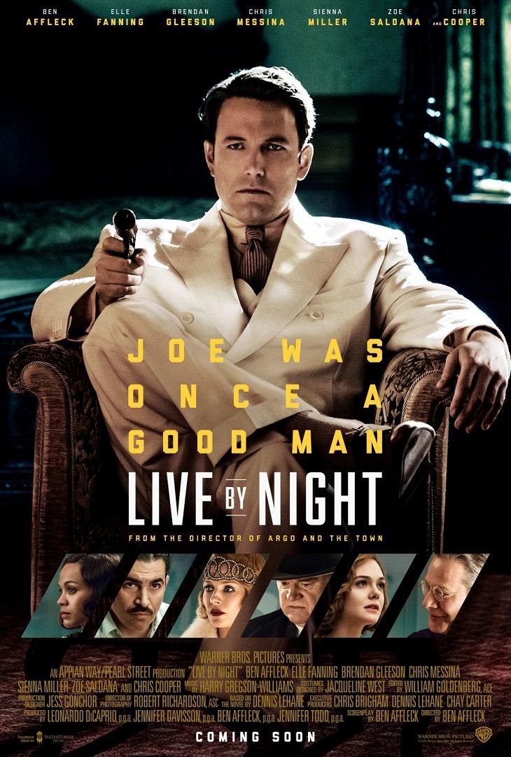 Póster de 'Vivir de noche (Live by night)'