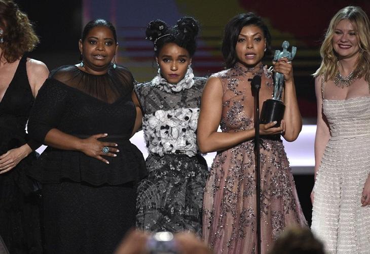 Las protagonistas de 'Figuras ocultas' recogen el premio al mejor reparto