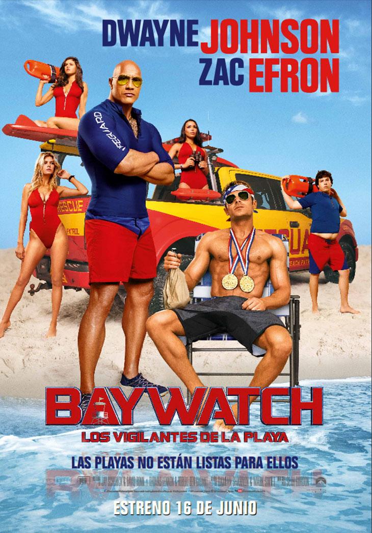 Póster en español de 'Baywatch: Los Vigilantes de la Playa'