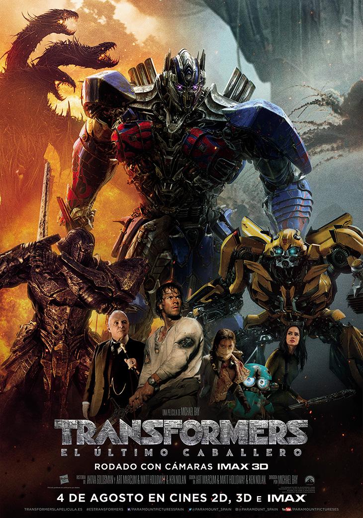Póster definitivo  en español de 'Transformers: el último caballero'