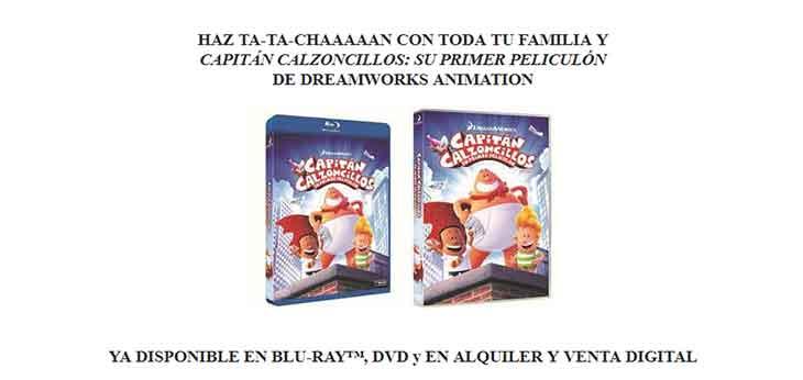 Portadas de DVD y Blu-ray de Capitán calzoncillos: su primer peliculón