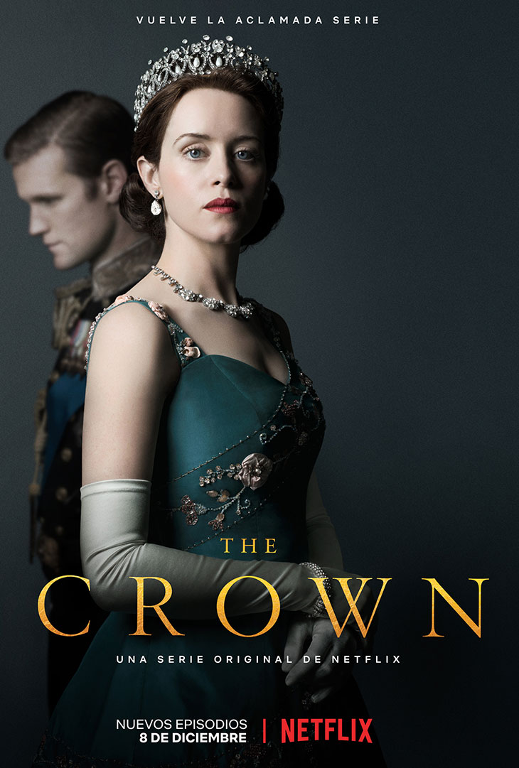 póster oficial de la segunda temporada de 'The Crown'