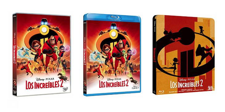 ediciones domésticas de 'Los Increíbles 2'